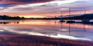 Break of Dawn. Taken at Koolewong Foreshore, Koolewong, Central Coast, NSW, Australia Stock Image