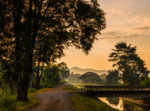 Break of Day. Early misty morning in North Thailand Stock Images