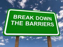 Break down the barriers Royalty Free Stock Images