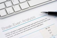 Break-even analysis Stock Image