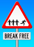 Break free. Breaking free from it all and living your own life royalty free illustration