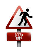 Break free sign illustration design. Over a white background Stock Photography