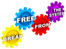 Break free from the system Stock Photo