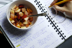 Break for fruit salad Stock Photo