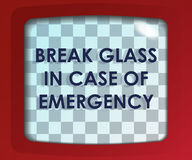 Break glass Stock Image
