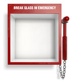Break Glass in Emergency Stock Images