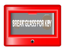 Break Glass For Key Royalty Free Stock Photos