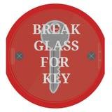 Break glass for key on white background . Break glass for key on white background. eps10 Stock Photography