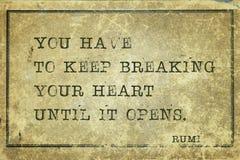 Break Heart Rumi Stock Images