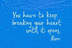 Break heart Rumi Stock Photo