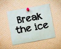 Break the ice Stock Photo