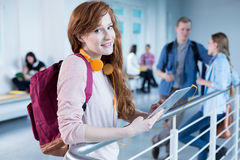 Break between lectures classes Royalty Free Stock Photos