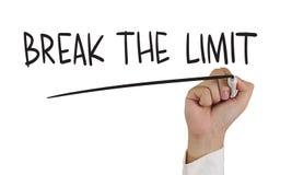 Break the Limit Stock Photo