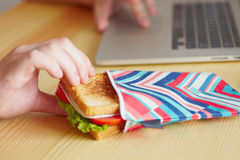 Break in lunch box Royalty Free Stock Photography