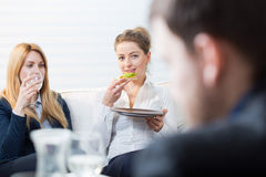 Break for lunch at work Stock Photos