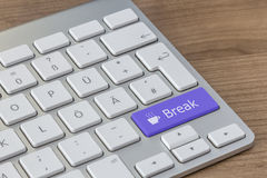 Break on modern Keyboard Stock Photo
