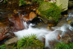 A break. Mountain stream、The stream、Running water、flow、natural、scenery Royalty Free Stock Photos