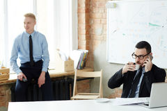Break in office Royalty Free Stock Image