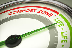 Break Out of Your Comfort Zone, Life Change Stock Photo