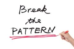 Break the pattern Royalty Free Stock Images