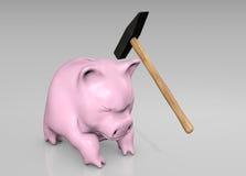 Break the piggy Stock Photography