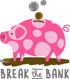 Break The Piggy Bank Stock Image
