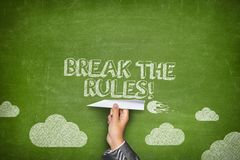 Break the rules concept Royalty Free Stock Photos