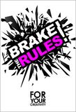 Break The Rules, Motivational Lettering Quote Vector. Break The Rules, Motivational Lettering Quote Vector Poster, Banner, Flyer or Sticker Design Modern Royalty Free Stock Photography