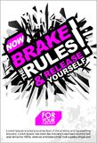 Break The Rules & Release Yourself , Motivational Lettering Quote Vector Poster, Banner, Flyer or Sticker Design Modern Illustrati. Break The Rules Release Royalty Free Stock Image