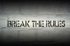 Break the rules Stock Photo