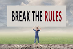 Break the rules Stock Image