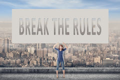 Break the rules Royalty Free Stock Images
