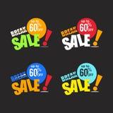 Break sale discount 60 vector business promotion. Design Royalty Free Stock Photos