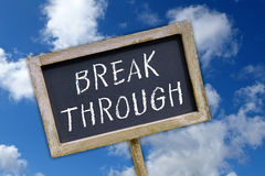 Break through sign Stock Images