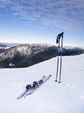 Break in skiing Royalty Free Stock Photo