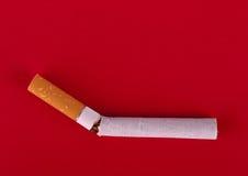 Break the smoking habit - cigarette symbol stock images