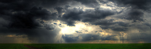 A Break in the Storm Stock Images