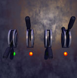 Break Switches. 3D break switches royalty free illustration