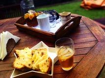 Break, Tea, Bread, Breakfast Stock Photo