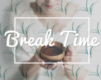 Break Tea Coffee Time Relax Concept Stock Photography