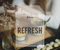 Break Tea Coffee Time Relax Concept. Break Tea Coffee Time Refresh Stock Image