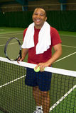 Break From Tennis - vertical royalty free stock image