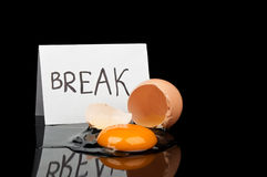 Break Time And Broken Egg Royalty Free Stock Images