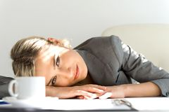 Break time. Beautiful businesswoman Stock Image