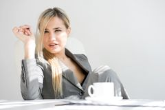 Break time. Beautiful businesswoman Royalty Free Stock Photos