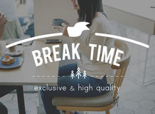 Break time Coffee Cafe Cafeteria Concept Stock Photo