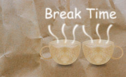 Break Time, Coffee Time Concept Stock Photography