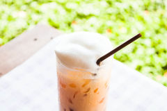 Break time with cold thai tea Stock Photography