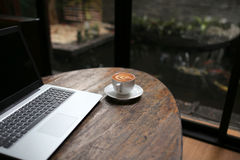 Break Time a just work and relax but working joy laptop Royalty Free Stock Photos