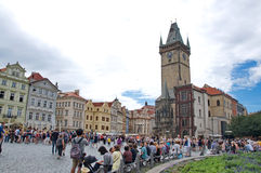 Break time at the Old Town Square in Prague Stock Photography